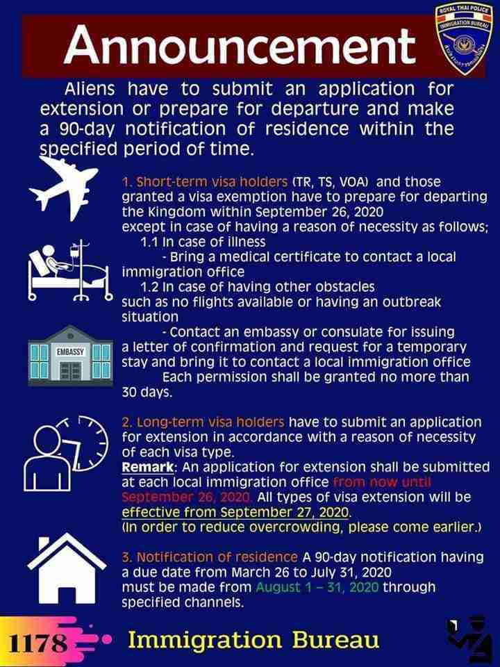 Thai Immigration Visa Amnesty Details Infographic