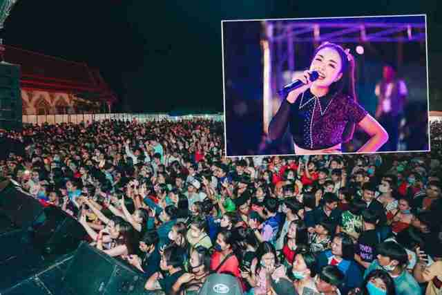 """Prime Minister Prayut Chan-ocha ordered testing of those attending the July 24 and 25 Krabi and Nakhon Si Thammarat concerts by teen idol Ratchanok """"Jennie"""" Suwannaket after event photos went viral with thousands denouncing the flouting of social-distancing rules."""