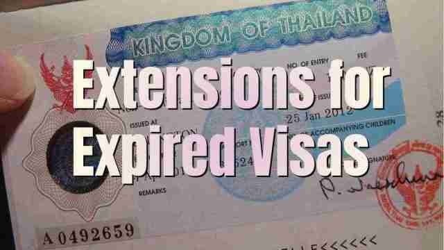 Thai Expired Visas Can Be Extended During Amnesty
