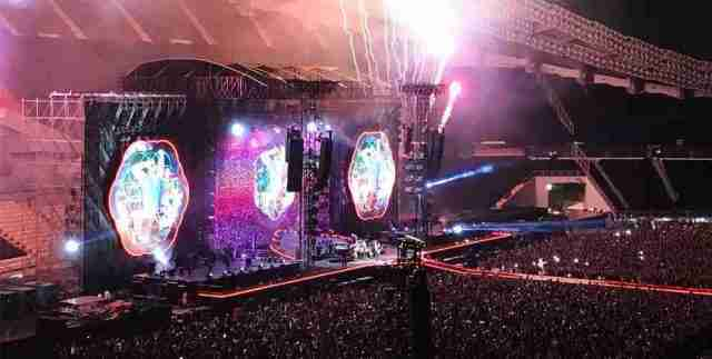 Coldplay Live in Concert in Bangkok Thailand in 2017