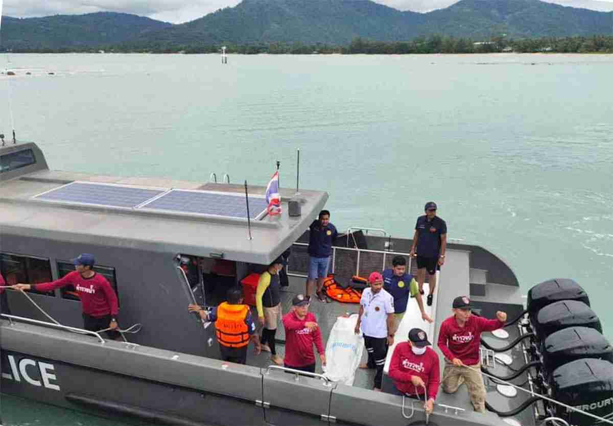 The search-and-rescue mission continued all day off Koh Samui with two people found alive and the captain of the sunken ferry dead.