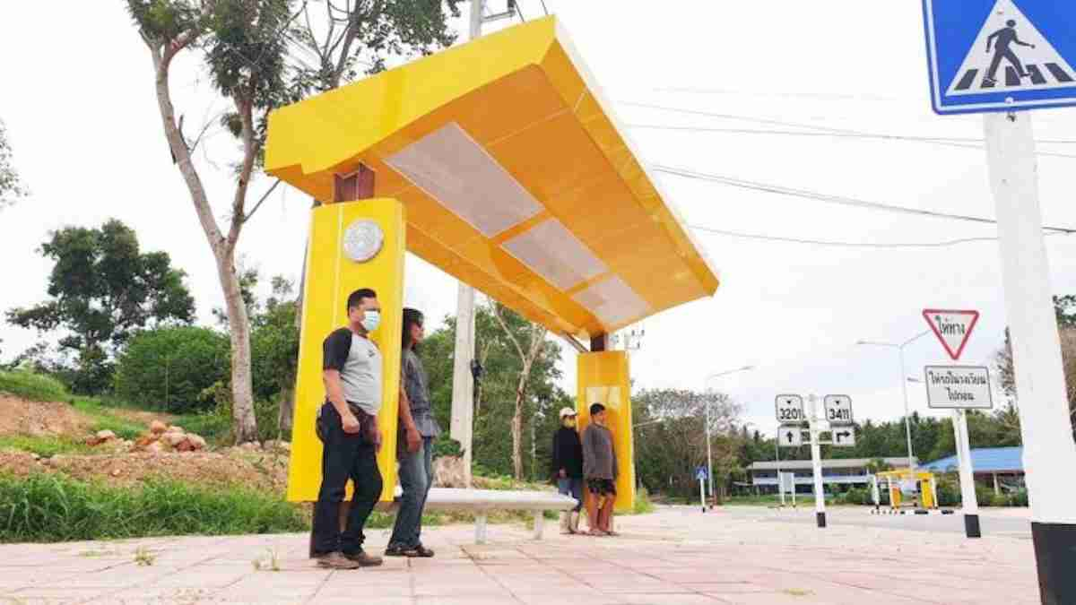 Sleek and yellow, this Northeast bus stop stressed style over substance, and provided far too little of the latter.