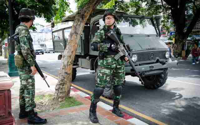 Thailand soldiers bangkok coup army