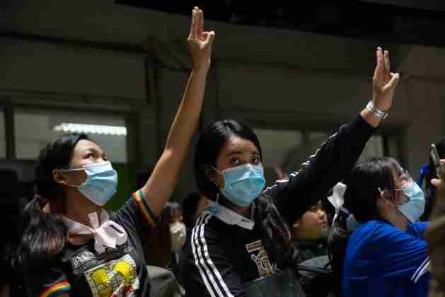 About 1,000 students and youths protested Oct. 16 at Chiang Mai University (Photo: Will Langston for the Bangkok Herald)
