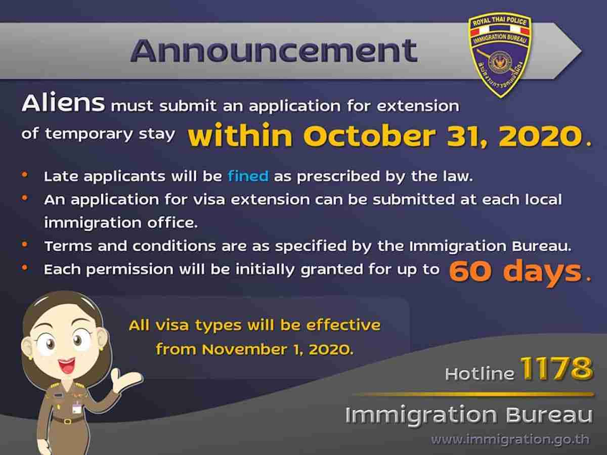 No New Visa Amnesty Coming Apply For Extension Or Faces Fines Arrest Bangkok Herald