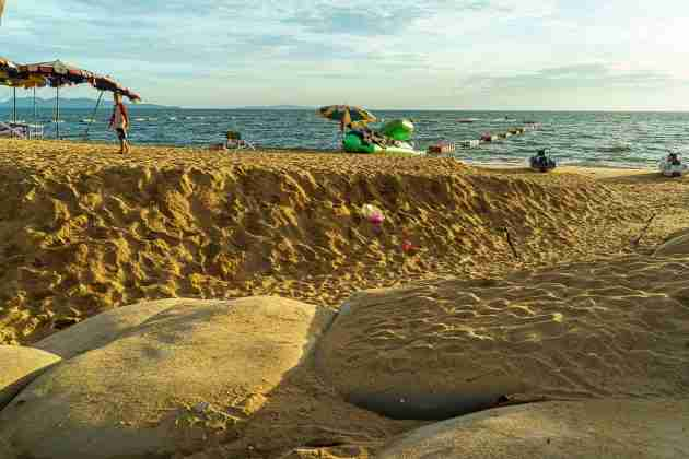 Jomtien Beach suffered serious damage in the weekend storm as well.