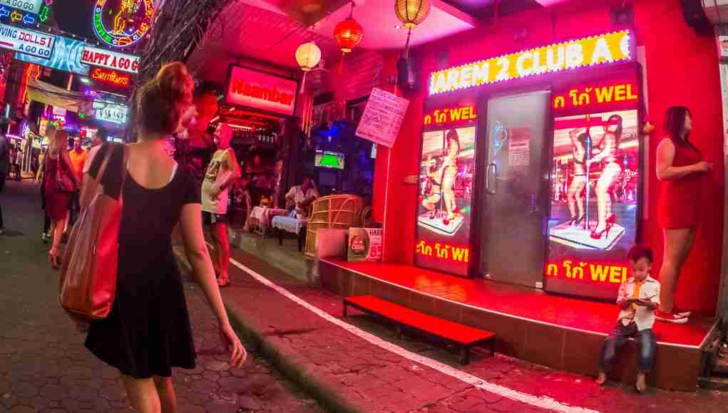 Children playing outside bars filled with sex workers are not uncommon in Pattaya. (Photo: Bangkok Herald)