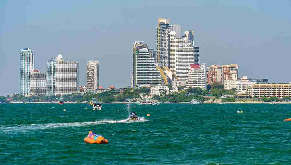 The condo towers of Wong Amat Beach and North Pattaya, many of which sit empty these days. (Photo: Bangkok Herald)
