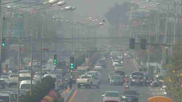 Bangkok Thailand Traffic Cars Smog Air Pollution PM25