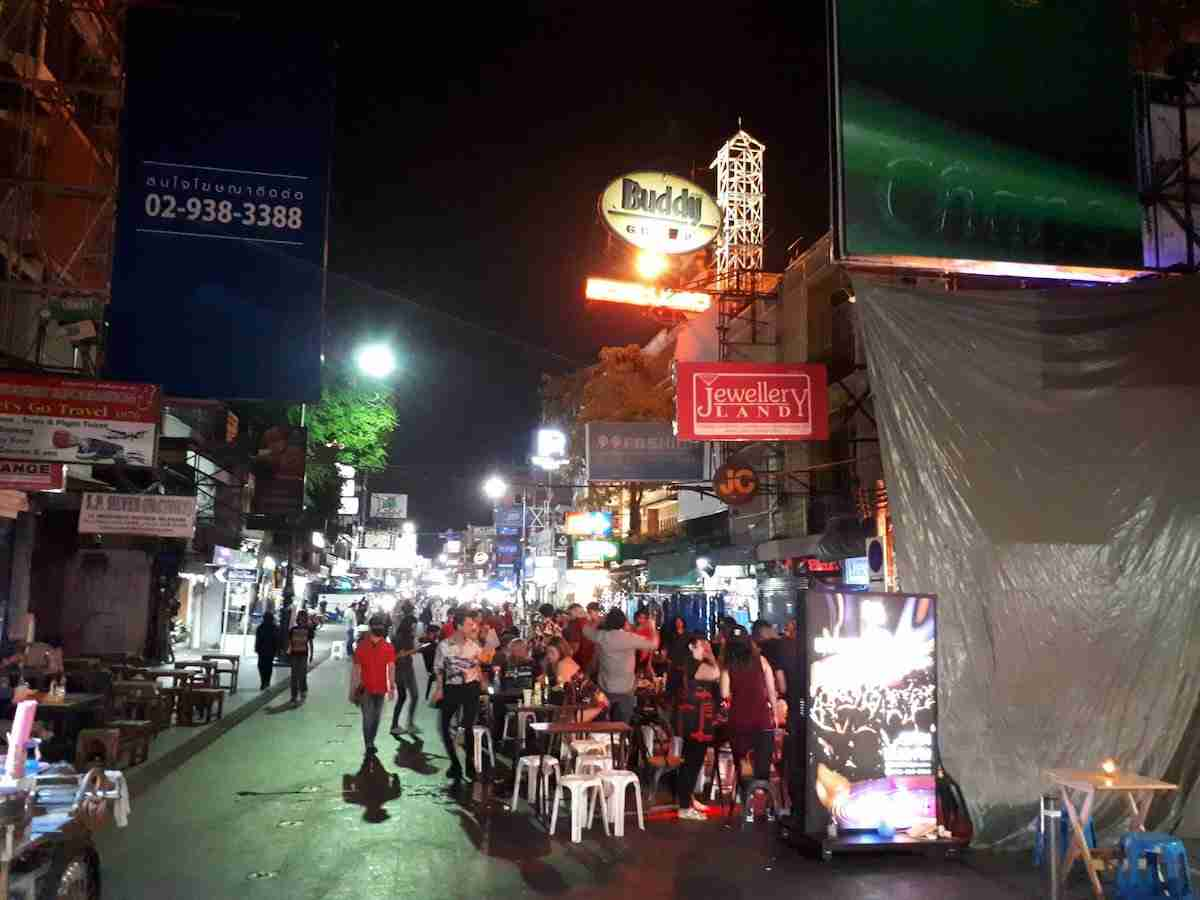 Khao San Road was lively Friday night as young locals and expats got in their last night of partying before Bangkok's bars close indefinitely at midnight.