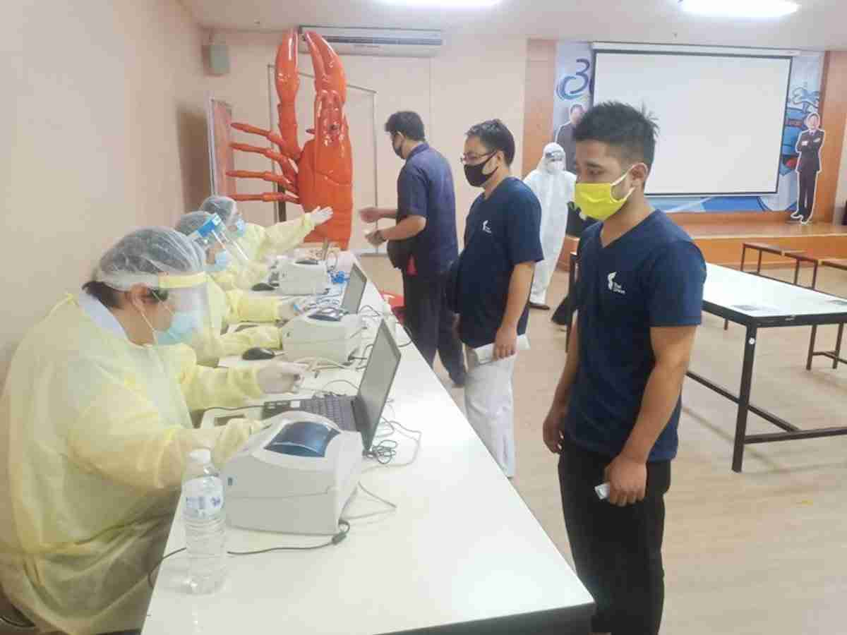 Thai Union said it has been screening employees for Covid-19 since early December, with more than 85% of its workers in Samut Sakhon Province completing tests as of Jan. 5. (Photo: Thai Union Group)