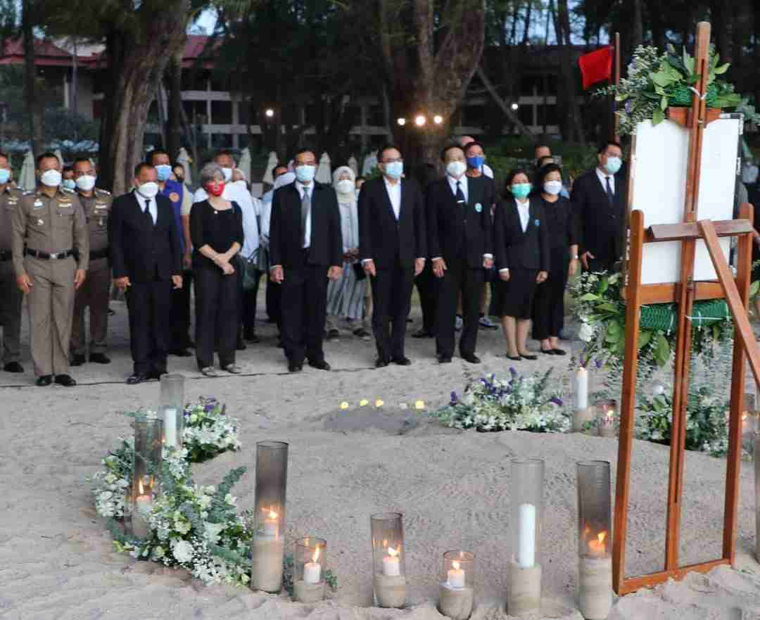 Phuket Gov. Narong Woonciew and top police and local officials led a Friday night memorial service at the beach.