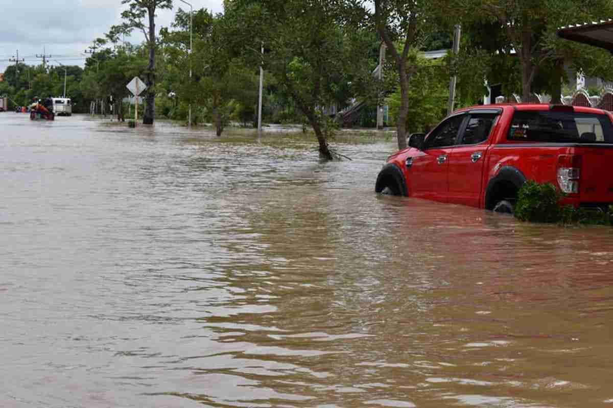 Floods in Bamnet Narong District, Chaiyaphum Province Sept. 27. (Photo: Municipality of Bamnet Narong)