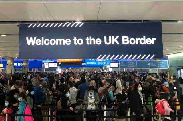 UK Border London Airport Heathrow Immigration Queue Red List Countries2